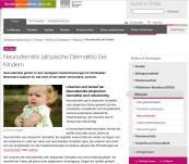 Infos zu Neurodermitis, Behandlung, Kinder