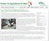 Website Kinder-und Jugendärzte im Netz, ADHS