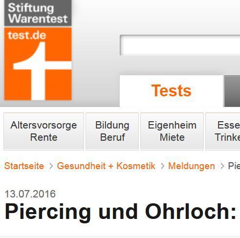 Ohrloch, Piercing