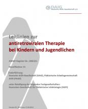 Therapieleitlinie zu HIV bei Kindern und Jugendlichen