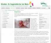 Informationen zu Frühgeborenen vom Berufsverband der Kinder- und Jugendärzte